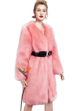 YIGELILA Women Pink Hooded Long Sleeve Faux Fox Fur Coat for Winter X-Large. Brand: YIGELILA. Available sizes and colors of stylish faux fox fur outerwear excellently fit well with your demand. Other sizes we can provide custom-made services to you. Elegant warm hooded and long fur style with handsome slant pockets design look stereoscopic and gorgeous as the cool model when wearing this practical and fashion fur coat. This outerwear are suitable for any kindly costume that perfect for…