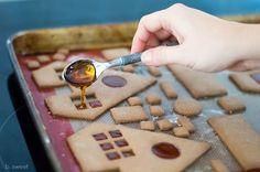 "Gingerbread House Caramel Glue and Window ""glass"" - b. sweet"
