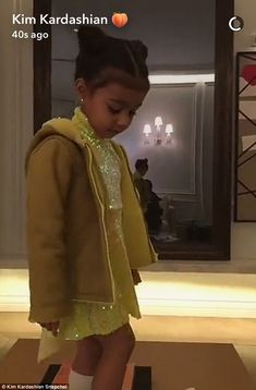 """Make like North and wear a sequin Yeezy dress  Click """"Visit"""" to buy #DailyMail"""