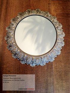 Spiegel  Romanus - Einzelstück Messing Massiv Ornamente Patina - Shop - Lebenstraum Wunderbar