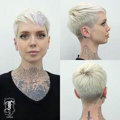 Sara's latest pixie cut ✂️✂️ @saraontheinternet #FernTheBarber #DeadEndz #PixieHaircut