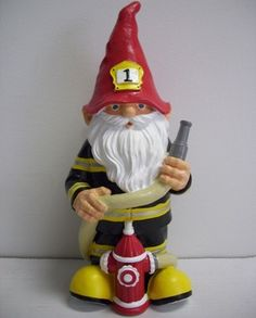 Firefighter Garden Gnome | Shared by LION