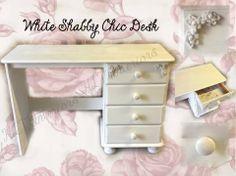 White shabby chic desk
