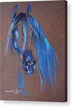 Horse Acrylic Print featuring the pastel Arabian Horse by Paulina Stasikowska