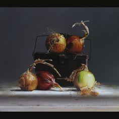 "Larry Preston on Instagram: ""Onions and Tin 16x18 oil on panel #gessobord #stilllifepainting"" Onion, Vegetables, Food, Onions, Essen, Vegetable Recipes, Meals, Yemek, Veggies"