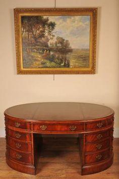 Victorian Mahogany Partners Desk