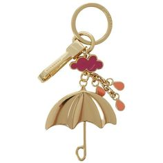 Burberry Shoes & Accessories Umbrella Metal Key Charm (305 CAD) ❤ liked on Polyvore featuring jewelry, pendants, engraved jewelry, burberry jewelry, pink jewelry, charm pendant and charm jewelry