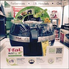 Step through the gallery for individual T-Fal ActiFry Point-of-Purchase QR-Code element closeups, the espoused benefits, and QR link to see in action.