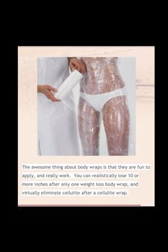 DIY Body Wrap. Lose Inches Off Your Body