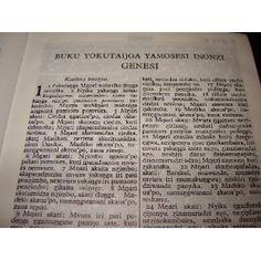 Verse of The Bible read in Zimbabwe, It is written in Bantu