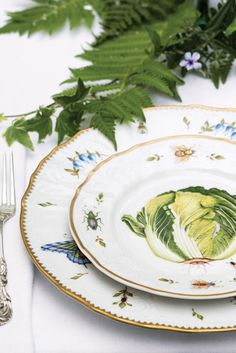 Anna Weatherly patterns, Spring in Budapest and Antique Vegetables, strike a pleasing balance between elegance and playfulness.