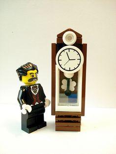 lego furniture clock   Flickr - Photo Sharing!