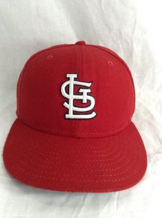 St Louis Cardinals Hat New Era Fitted 59Fifty On Field Cap Size 7 1/4 #NewEra #FittedAuthenticCollection #StLouisCardinals