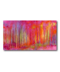Look at this Woods Splash Pink Wrapped Canvas on #zulily today!