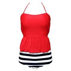 Padded Swimsuits, Women Swimsuits, Girls Bathing Suits, Striped Swimsuit, Beachwear, Swimwear, Bikini Set, Fashion Outfits, Women's Fashion