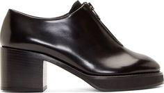 Acne Studios - Black Leather Modified Zipper Mya Ankle Boots