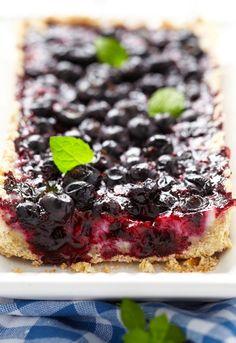 Koláč z čučoriedok Desserts, Tailgate Desserts, Deserts, Postres, Dessert, Plated Desserts