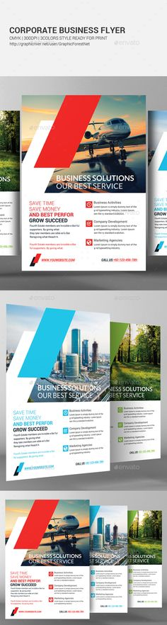 Business Flyer Template - Corporate Flyer Template PSD. Download here: http://graphicriver.net/item/business-flyer-template/16725858?s_rank=164&ref=yinkira