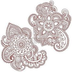 Mehndi paisley embroidery idea