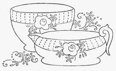 Hudson's Holidays - Designer Shirley Hudson: Roses on tea set freebie
