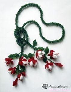 поделки из бисера цветы, лепестки из бисера, фуксия из бисера, фуксия из бисера схемы