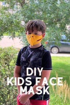 DIY Kids Face Masks and free printable patterns. Sewing For Kids, Diy For Kids, Craft Tutorials, Cool Things To Make, Face Masks, Little Ones, Free Printable, Lost, Patterns