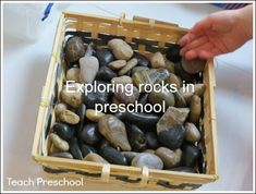 Exploring rocks in preschool by Teach Preschool