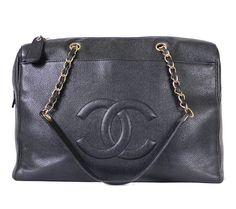Vintage Chanel Caviar Skin Large Shoulder Bag 1990s