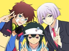 Nice, Hajime, and Art from Hamatora