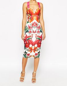 20aa6d511d Ted Baker Midi Dress in Tropical Toucan Print