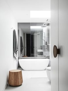 Bathroom   Spotted Gum Northcote House by Taylor Knights   est living