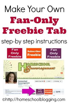 How to Make Your Own Fan-Only Freebie Tab on Facebook from #Homeschool Bloggers #hsbloggers