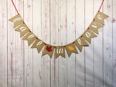 Fall In Love Banner, Rustic Bridal Shower Decoration, Autumn Bridal Shower, Falling in Love Shower, Bridal Shower Menu, Elegant Bridal Shower, Fall Wedding Decorations, Bridal Shower Decorations, Rustic Thanksgiving, Wedding Dresses With Flowers, Pink Invitations, Autumn Wedding, Banner