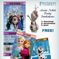 *Rook No. recipes, crafts & whimsies for spreading joy*: Movie Ticket Style FROZEN Party Invitations (Free . Disney Frozen Party, Olaf Frozen, Frozen Birthday Party, 6th Birthday Parties, Birthday Fun, Frozen Movie Party, Birthday Ideas, Lila Party, Festa Party