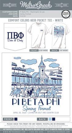 Formal Shirts | Pi Phi | Metro Greek | Sorority Shirts | Fraternity Shirts | Horse Racing | Custom Greek Tees #sororityshirt #formal #metrogreek #piphi #greekshirts #horseracing Fraternity Shirts, Sorority And Fraternity, Sorority Shirts, Sorority Formal, Greek Shirts, Pi Beta Phi, Formal Shirts, Comfort Colors, Horse Racing