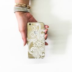 """Clear Plastic Case Cover for iPhone 6 (4.7"""") Mehndi Henna"""