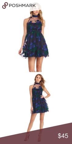 Jada Navy Embroidered Floral Party Dress Brand new with tags  Smoke free and pet free home  Packaged with care Windsor Dresses Prom