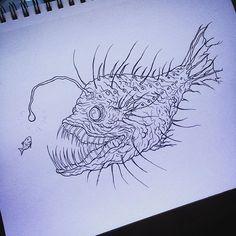 Outline for angler fish design.