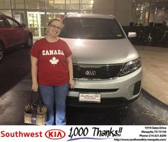 https://flic.kr/p/Mt9h8Y | #HappyAnniversary to Angela and your 2015 #Kia #Sorento from Harold Bennett at Southwest Kia Mesquite! | www.deliverymaxx.com/DealerReviews.aspx?DealerCode=VNDX