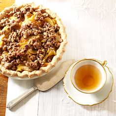 Walnut Crumb Apple Pie- I made it!  DELICIOUS!!!  I used a pre made Marie Callendars frozen pie crust...best on the market.