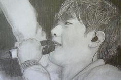 https://flic.kr/p/txgsvQ | Park Hyo Shin | charcoal and pencil sketch