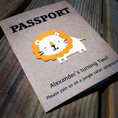Passport Birthday Invitation  Jungle Safari by PeacockParties, $5.00
