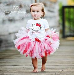 Boutique Hello Kitty Tutu Outfit|Hello Kitty Birthday Tutus|Hello Kitty Costume|Personalized Character Tutu|Boutique Hello Kitty