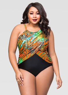 Tropical Palm One Piece Swimsuit Tropical Palm One Piece Swimsuit