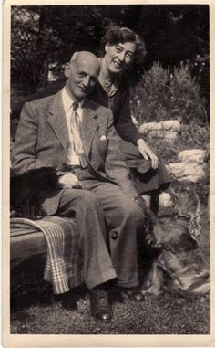 Otto Frank and Elfriede Markovits in London after their marriage - 1954
