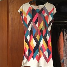 Tunic Dress Geo graphic dress size large but is very short and fits like a small/medium. NWOT smoke free home Style Mafia Dresses Midi