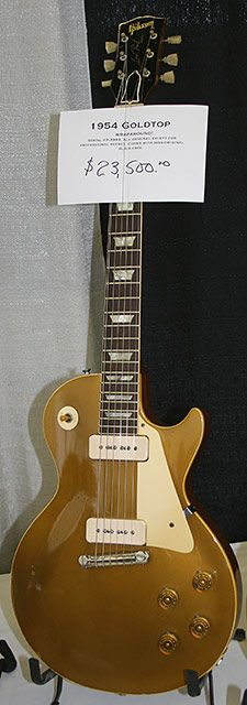 Cool, but you know some Wall Street douchebag's going to put it in a glass case in his summer house. That douche.  1954 GIBSON LES PAUL GOLDTOP