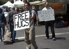 Free vs deluxe hugs