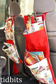 tidbits: Grab and Go Traveler: Tutorial. Both a car organizer and folds up to a bag.