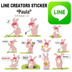 Now on sale !!  LINE sticker for golf lovers! http://line.me/S/sticker/1058031